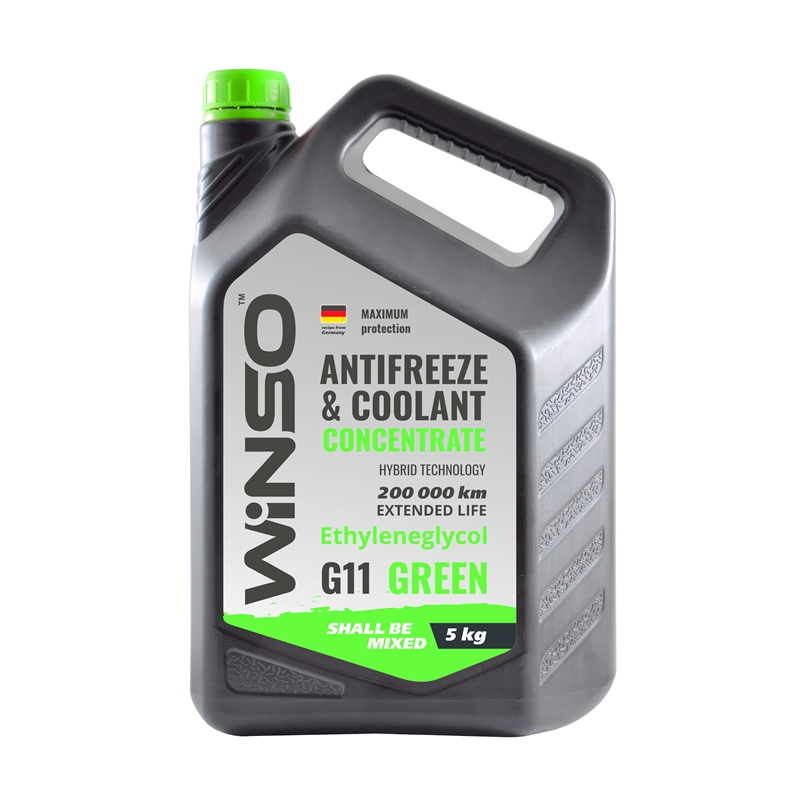 ANTIFREEZE & COOLANT CONCENTRATE WINSO GREEN G11 Антифриз концентрат 5kg (4шт/ящ) WINSO 881010